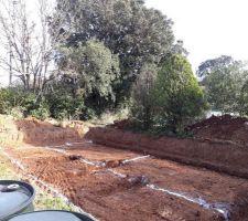 voila terrassement termine debut du beton
