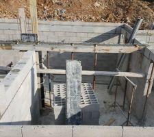 preparation et coffrages des poutres pose de la ferrailles collage de betons armee