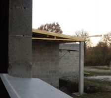 toiture vue de la salle de jeux sur le porche