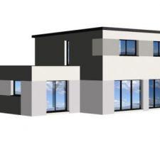 maison toit monopente