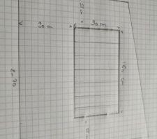 2ème semaine de placo : Séparation entre Bureau et Escalier avec emplacement pour future verriere bois