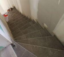 Escalier carrelé