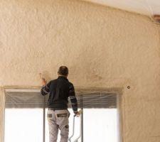 Préparation faux linteau de pierre