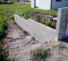 Mur de soubassement limite de propriété