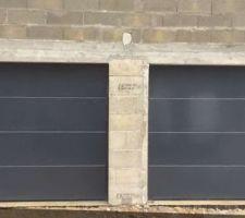 Porte de garage sectionnelles motorisées RAL 7016
