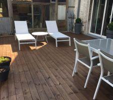 mobilier de terrasse sorti