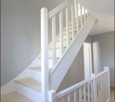 Cage d'escalier terminée
