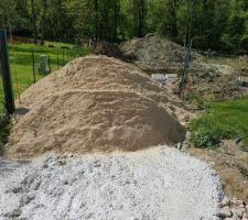 Livraison sable a J+6 Après les fondations