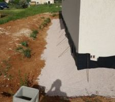 Préparation pour drain peripherique