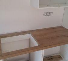 montage de la cuisine decoupe de l emplacement plaque a induction