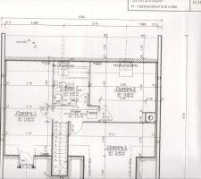 plan de l etage dont la sdb