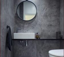 toilettes peinture effet beton