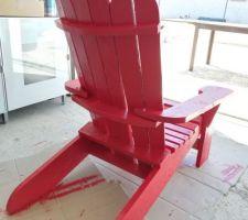 Fauteuil DIY Adirondack (détail ajout pièce support d'accoudoirs)