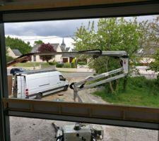 vue depuis le premier etage a travers les futures baies vitrees le virtuel a du bon elles ne seront jamais aussi propres que maintenant