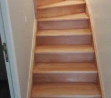 escalier en cours de sous couche avant vitrification