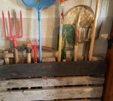 rangement des outils de jardin