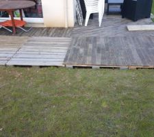 agrandissement de la terrasse
