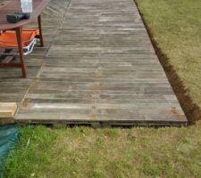 fin de l agrandissement de la terrasse