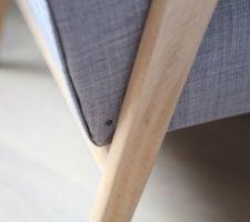 Restauration fauteuil - Détail finition