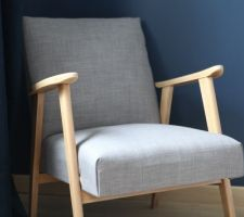 Restauration fauteuil - Montage sans couture