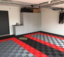 Garage fini avec les meubles