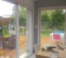 Terrasse utilisable vue de l'intérieur, enfin quand il fera beau ^-^