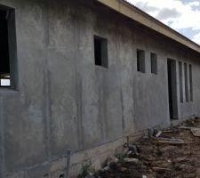 Lissage de la façade extérieur - Arrière maison