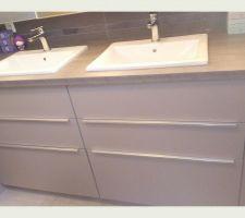 Meuble sous évier cuisine dans salle de bain