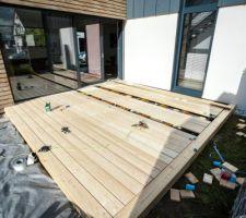 Terrasse SUD-OUEST en cours