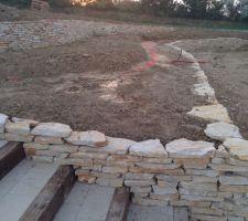 mur en pierres seches du lot