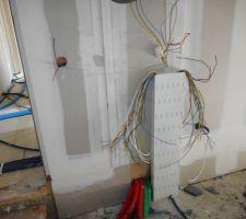 Début de l'intervention des électriciens