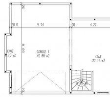 Plan rectifié, car erreur taille des briques 20cm -> 25cm