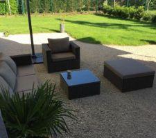 Aménagement terrasse provisoire avec salon jardin (alice's garden)