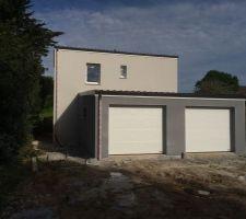 facades ouest garage et maison