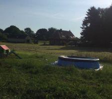 Ce week end nous avons mis la piscine des enfants
