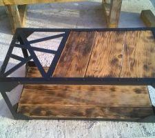 La table basse de la terrasse terminée