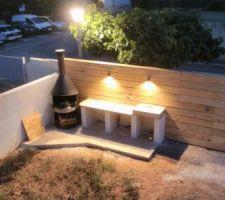 05/06/2017 : éclairage de la cuisine d'été