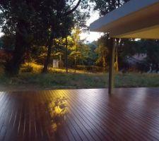 test eclairage exterieur de la terrasse