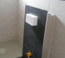 Habillage wc pas terminé