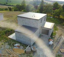 Vue aérienne de la toiture 5