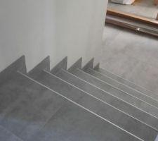 escalier pour descendre a la piece de vie