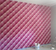 Mur papier peint chambre fille