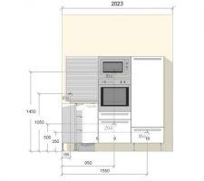 Plan technique de la cuisine 2