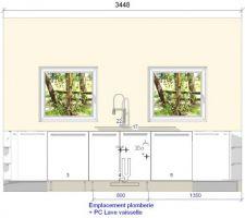 Plan technique de la cuisine 3
