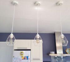 Nouvelle lumières dans la cuisine