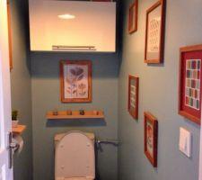 Nouvelle déco dans les toilettes