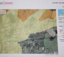 Photo zone concernant les sols argileux , nous sommes en aléa faible.