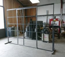 Fabrication de notre verrière pour le bureau