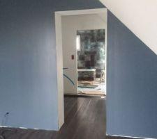 Notre chambre, peinture et parquet terminés