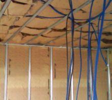 Isolation plafond et pignon côté garage